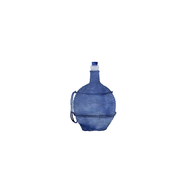 azulejo, cerámica azul, cantimplora