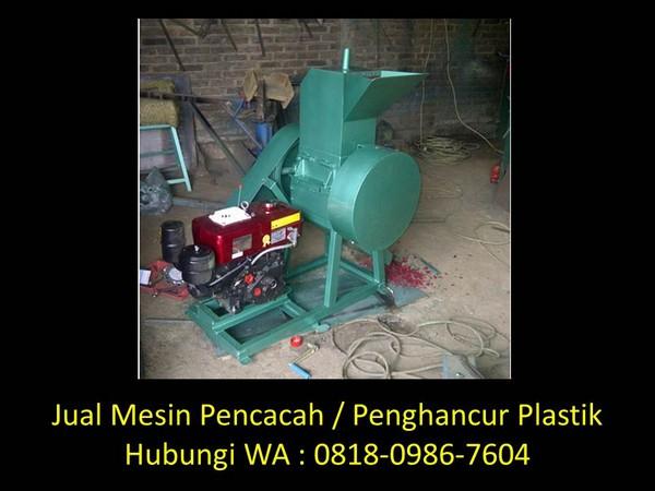 mesin cacah plastik dinamo di bandung