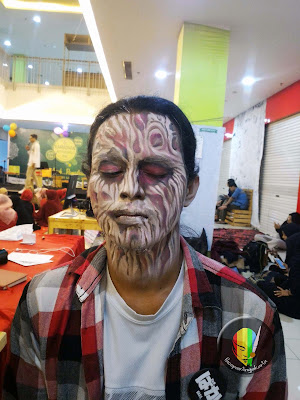 scary face painting-freedy krueger