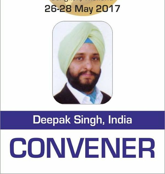 """GLOBAL INDIAN CONCLAVE ON INTERNATIONAL ECONOMIC DEVELOPMENT"" at Bangkok, Thailand on 26-28 May,2017"
