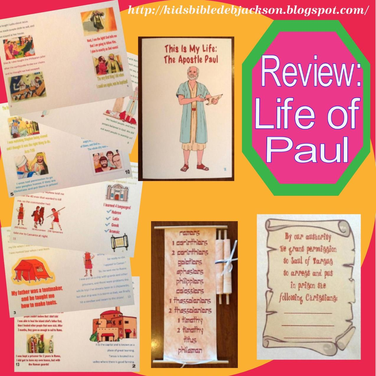 Bible Fun For Kids Review Of Paul S Life