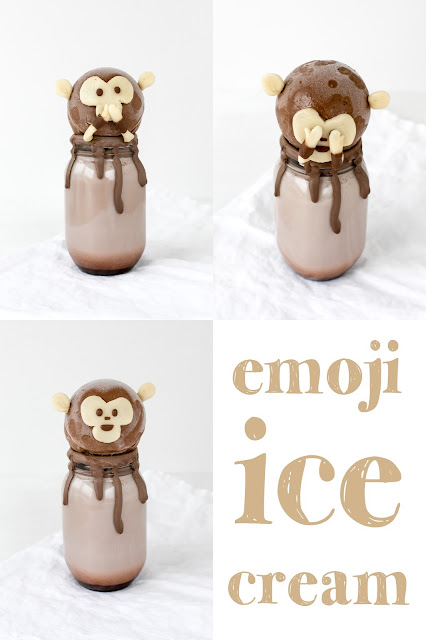 miriweber.ch, emoji food, emoji eis, emoji glace, emoji ice cream, emoji gelato, emoji äffchen, selbstgemachtes eis, emoji eis, veganes eis, selber machen, veganes schoko eis, chocolate ice cream, vegan, homemade, foodblog schweiz, schweizer foodblog, food styling, food fotografie, emoji monkey, emoji affe