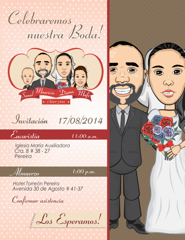 Alejasierra Tarjeta Matrimonio Animada Caricaturas