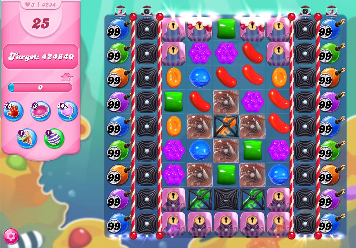 Candy Crush Saga level 4224