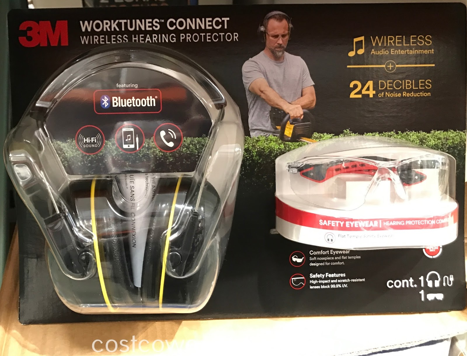 Protect both your ears and eyes with the 3M Worktunes Connect Wireless Hearing Protector