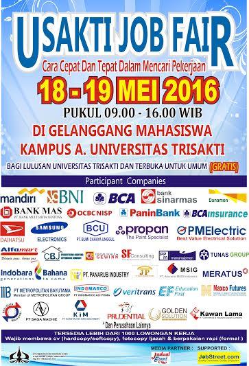 Job Fair atau Bursa Kerja di Universitas Trisakti kota Jakarta