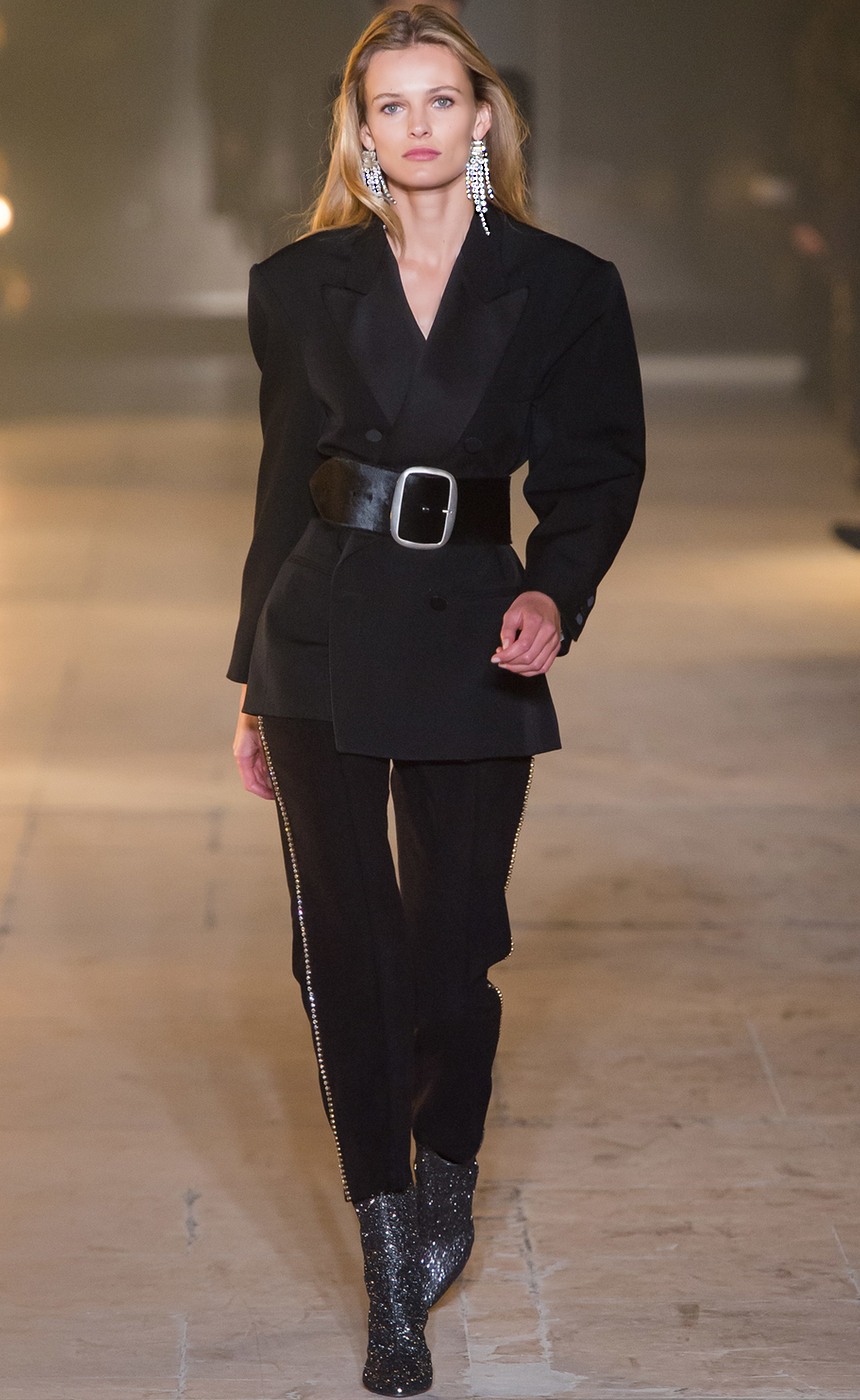 MODA OPERANDI Isabel Marant Johna Double Breasted Wool Jacket and Philea Embellished Pant