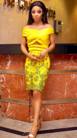 Fans worry over Toke Makinwa new skinny look (Photos)