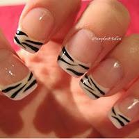 Unha Decorada - Animal Print - Zebra