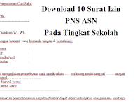 Download 10 Surat Izin PNS Pada Tingkat Sekolah