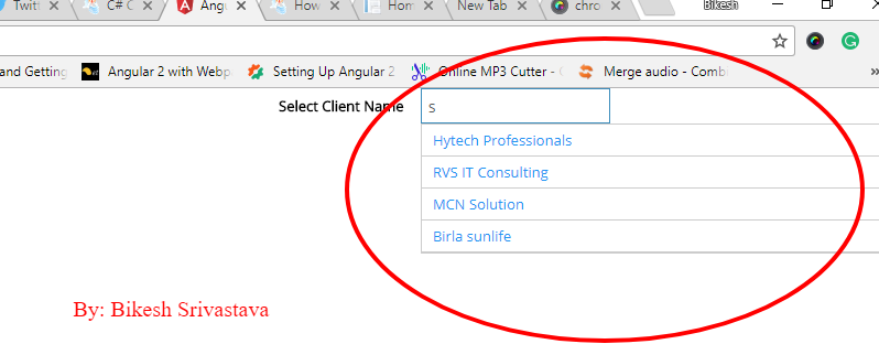 Creating an autocomplete textbox in angular 4 ~ ASP NET,MVC