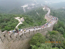 Great Wall of China, Badaling Section, snaking over impassable terrain, outside Beijing