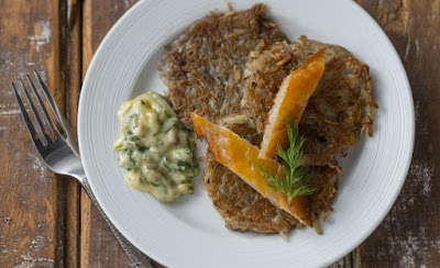 Rosti with Gribiche Sauce and Smoked Fish
