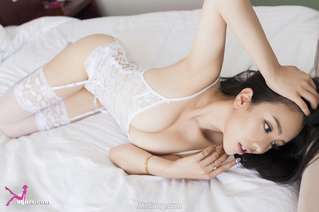 Image MrCong.com-UGIRLS-035-Ni-Xiao-Yao-012 in post Mê mẩn ngắm vòng một nở nang của người đẹp Ni Xiao Yao (妮小妖) trong bộ ảnh UGIRLS 035
