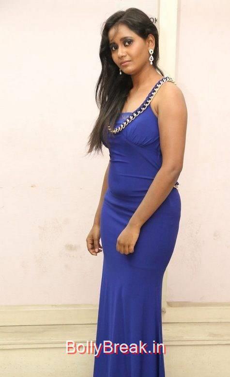 Anusha Photoshoot Stills, Anusha Hot Pics in Blue Dress