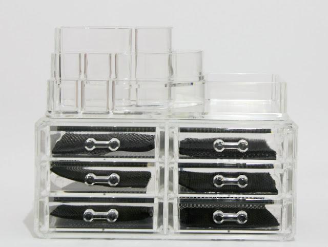 Organizador acrílico de maquillaje y cosmética