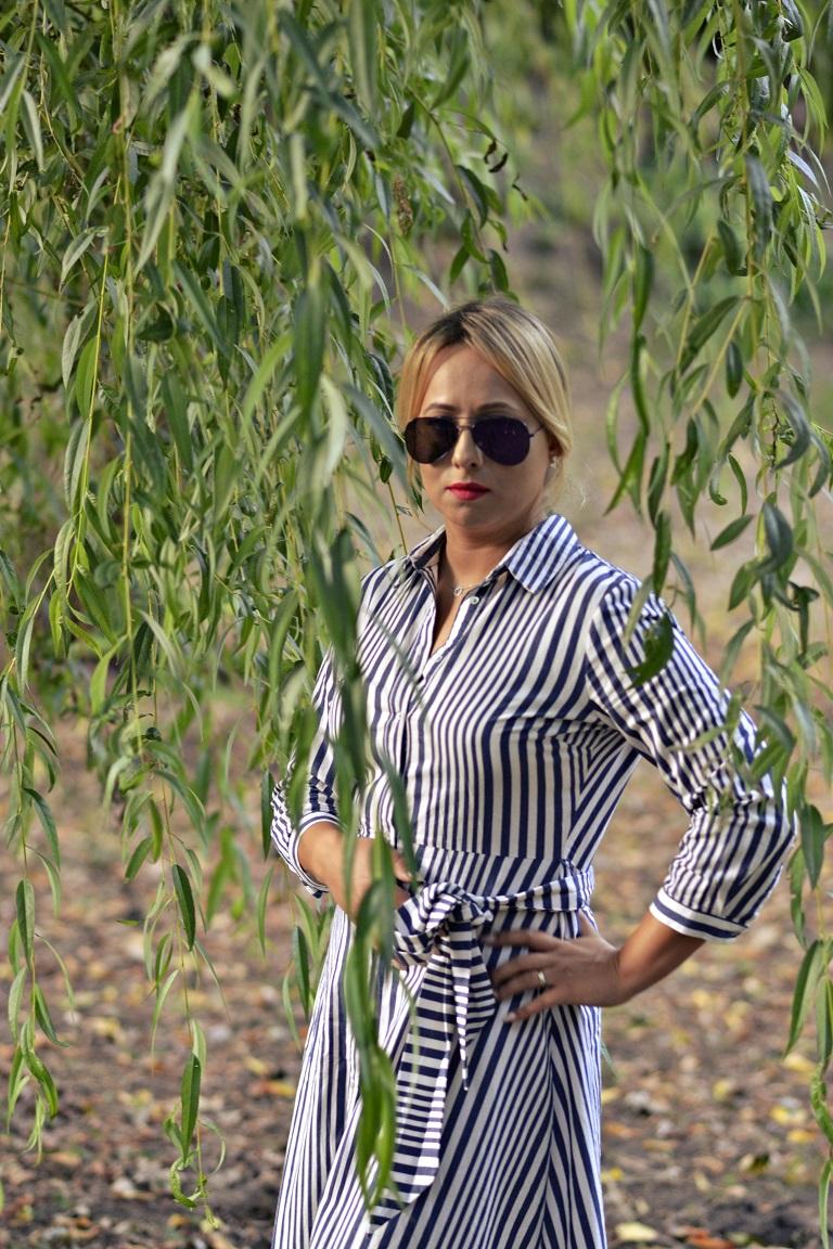 Ania – Koszulowa Maxi Sukienka