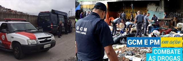 GCM, PM e PC realizam Operação Salubridade Pública em Santo André