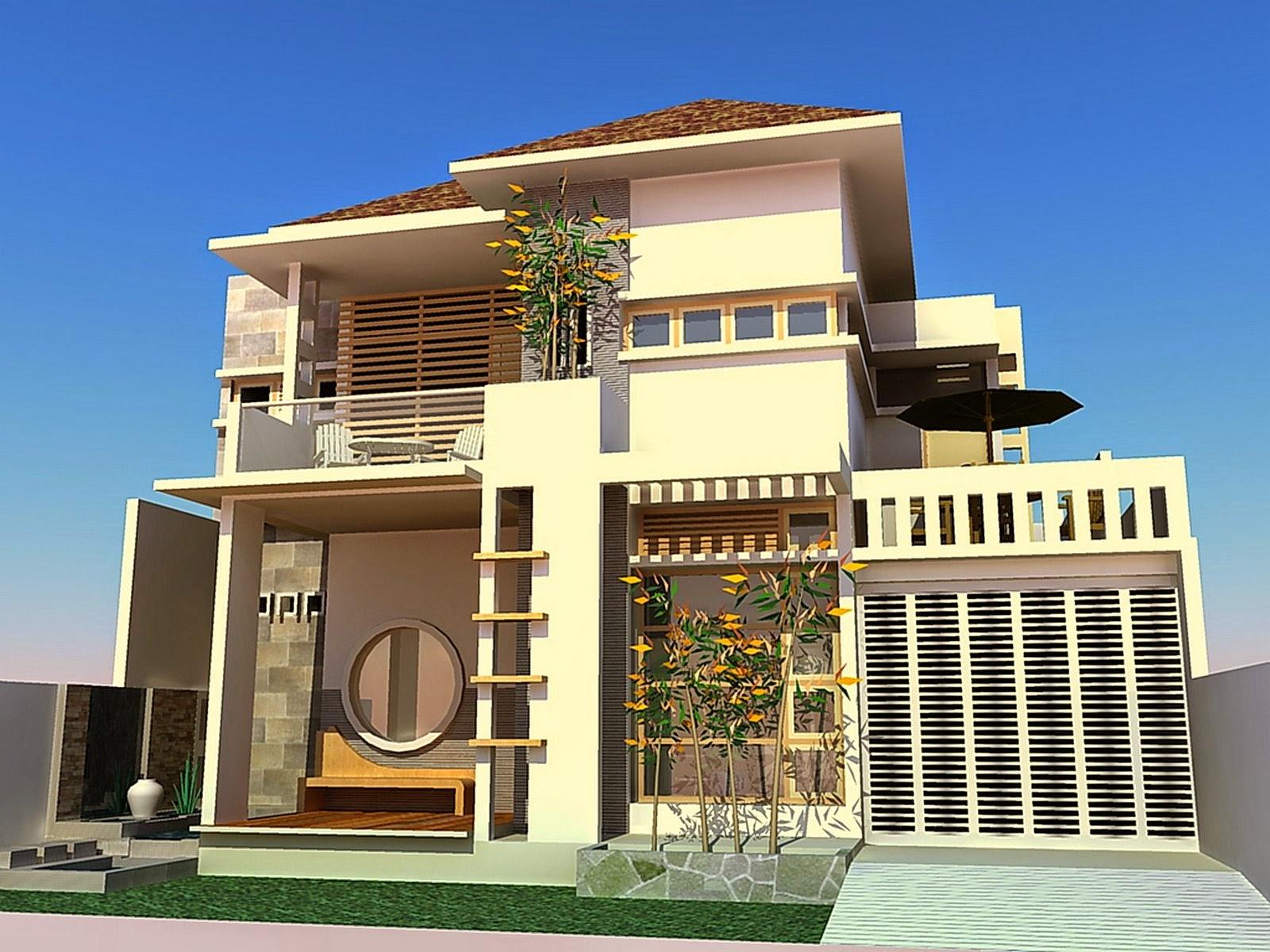 Desain+Rumah+Mewah+Kontemporer+Dua+Lantai