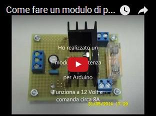 Come fare un modulo di potenza per Arduino DIY