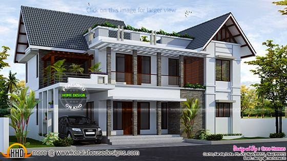 Mix roof house