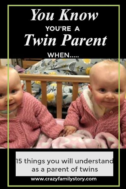 text 15 things you will understand as a parent of twins picture of twins in a cot