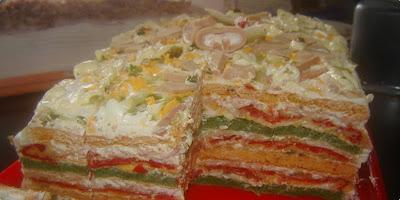Slana torta, hladno predjelo