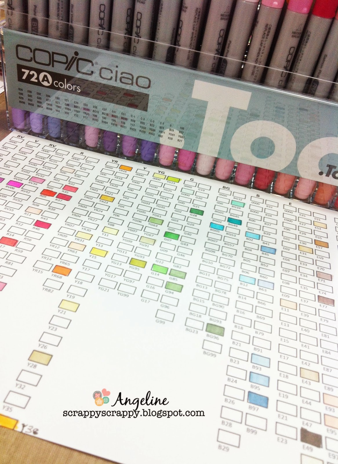 Copic Ciao Markers Diy Label Color Chart Scrappy Scrappy