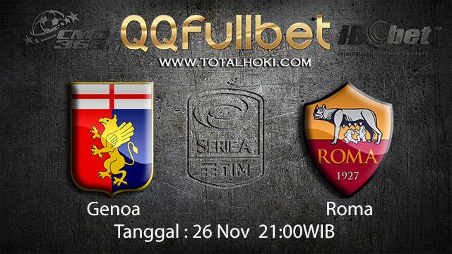 PREDIKSIBOLA - PREDIKSI TARUHAN BOLA GENOA VS ROMA 26 NOVEMBER 2017 ( ITALIAN SERIE A )