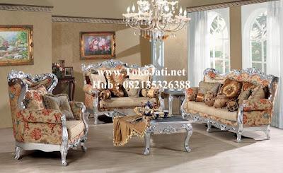 Mebel jepara Sofa tamu set 321 Klasik mewah