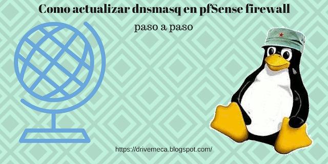 Como actualizar dnsmasq en pfSense Firewall