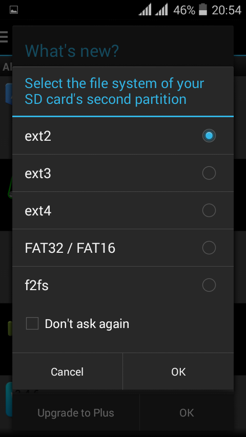 Aparted apps to partition your SDcard Screenshot 5
