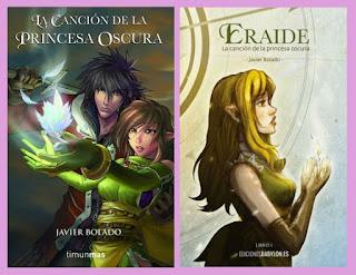 portadas de la novela de fantasía steampunk La canción de la princesa oscura, de Javier Bolado