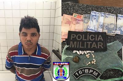 Mata Roma, Polícia Militar prende suspeito de comercializar drogas