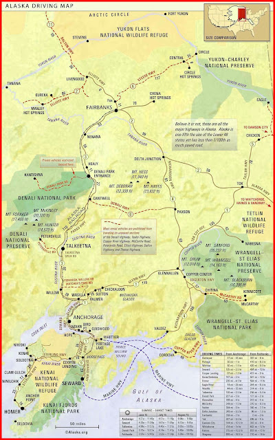 Alaska Driving Map