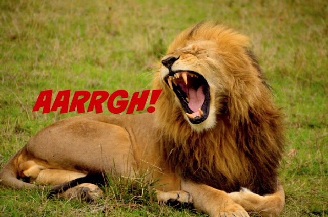 A sure fire way to recover from one of those days | Morgan's Milieu: A lion roaring, much like me after stepping on lego!