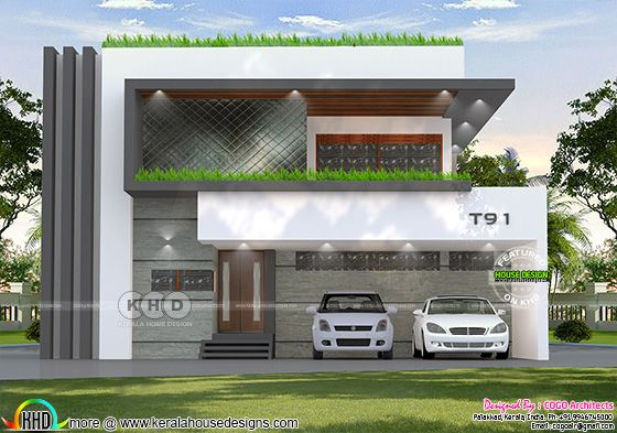 Elevation of unique conceptual villa design
