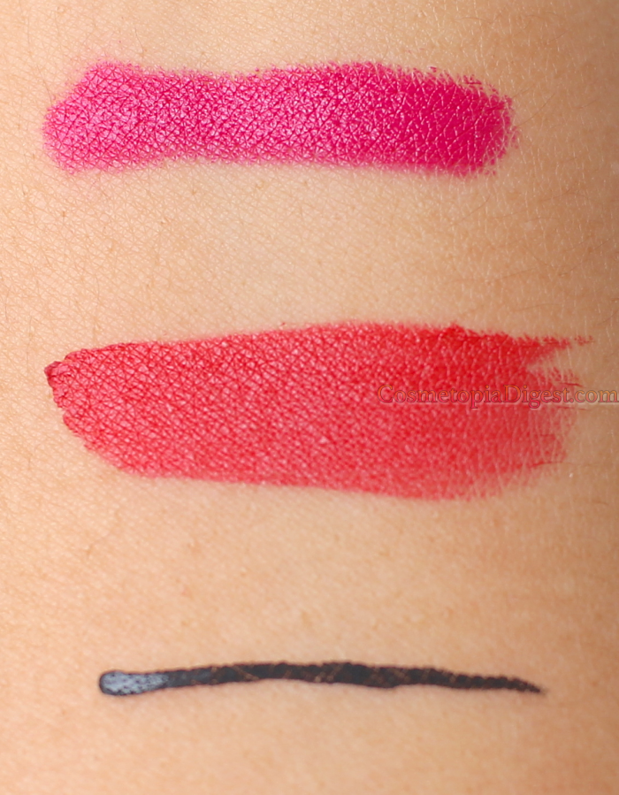 Swatches and review of Sigma Power Crayon and Power Stick Lipstick.