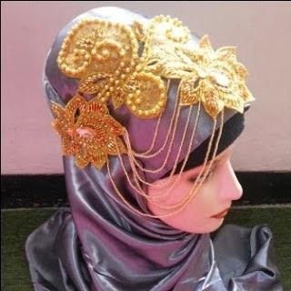 Aksesoris Jilbab Pesta Pengantin Unik
