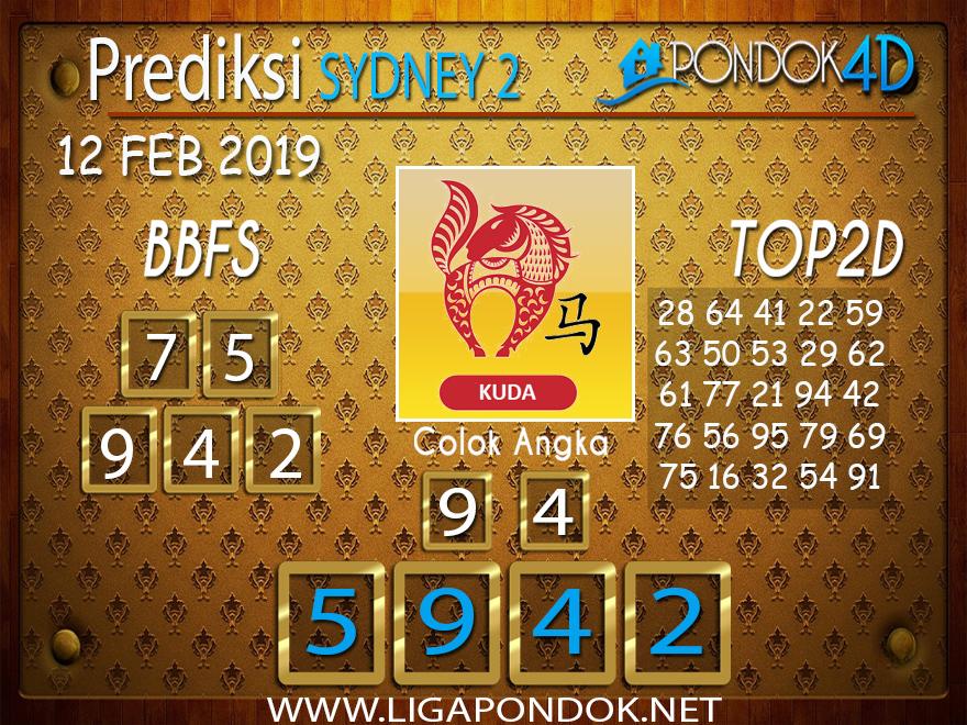 Prediksi Togel SYDNEY2 PONDOK4D 12 FEBRUARI 2019