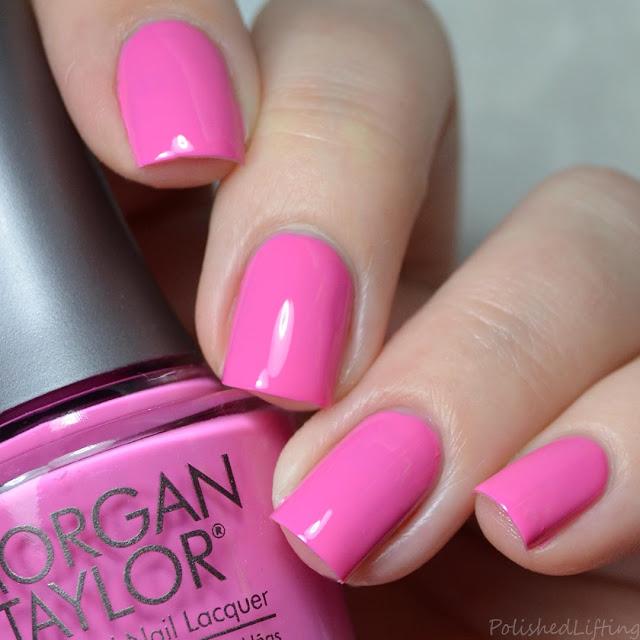 hot pink creme nail polish