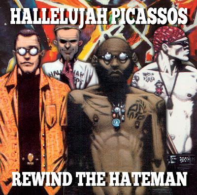 Album cover, hallelujah picassos - rewind the hateman