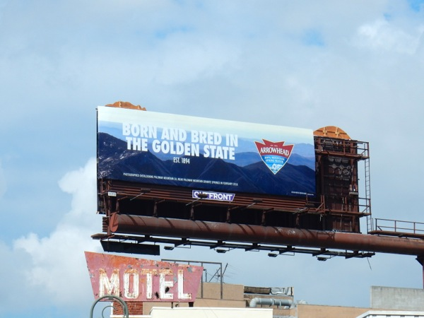 Arrowhead Born bred Golden State billboard