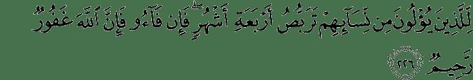 Surat Al-Baqarah Ayat 226