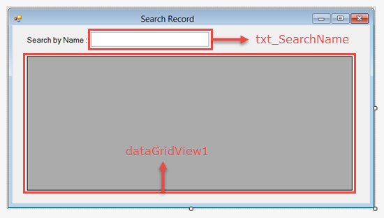 Search Record in DataGridView C# ~ IT Tutorials with Example