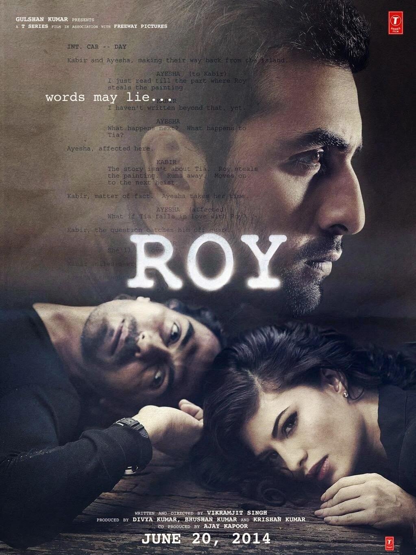 Mysterious Ranbir Kapoor, Jacqueline Fernandez and Arjun Rampal in Roy movie poster