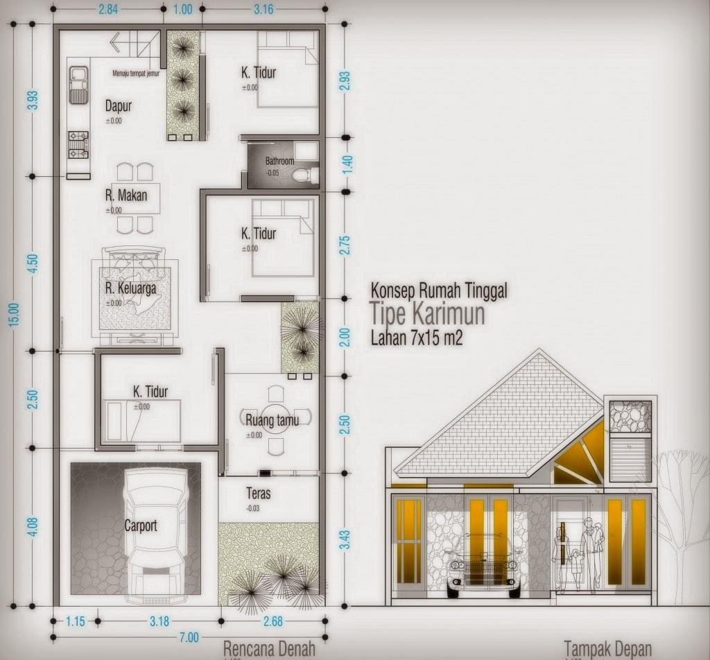 Cara Membuat Konsep Denah Rumah Sederhana Serta Contohnya Kumpulan Model Rumah Minimalis
