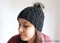 Quick and easy chunky crochet beanie with pom pom free crochet pattern