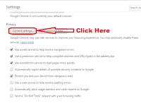 how to disallow popups in google chrome browser