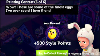 fv2ce, man in easter bunny costume, quest text, chick egg
